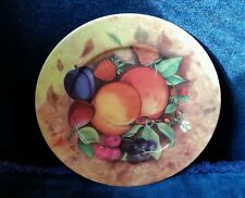 EMAIL DE LIMOGES STILL LIFE FRUIT PEACH SALAD PLATE – VERITABLE PORCELAINE