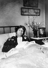 Photo. 1912-4. Women's Suffrage. Emmeline Pankhurst lying in bed