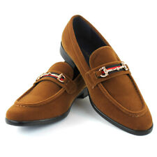 CAMEL Velvet Buckle Slip On Moccasins  Men's Dress Fashion Shoes Casual  PUCCI