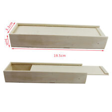 Rectangle Unfinished Wood Jewelry Box Wooden Case DIY Crafts