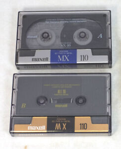 2 Used Maxell MX 110 Type IV Metal Cassette Tapes