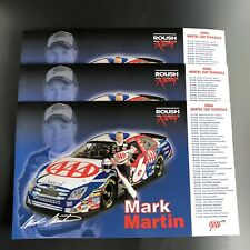 Lot of 3 Mark Martin 2006 Nextel Cup Roush Racing Photo / Schedule