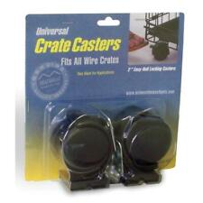Midwest Universal Crate Casters For Wire Crates 36-Inch and Longer, 2 Per Pack