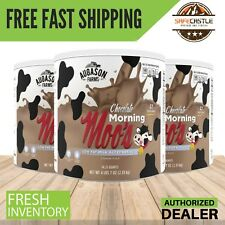 Augason Farms Food Chocolate Morning Moo's Low Fat Milk Alternative 6 Cans