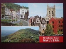 POSTCARD WORCESTERSHIRE MALVERN - BELLVUE TERRACE - ABBEY HOTEL & PRIORY - THE H