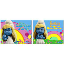 Smurfs 2 Birthday Party Supplies Invitations and Thank You Cards
