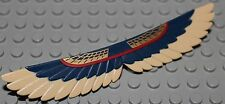 LeGo Mummy Wings w/ Tan Feathers and Red / Gold Pattern