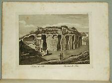 1818c.Inc/Rame.ROMA: LE TERME DI TITO - THERMES DE TITUS.par NIBBY-Parboni-Ruga