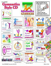 282 Mb Gymnastics Style Cd - Banners - Gift Tags - Sewing - Quilting - Crafts