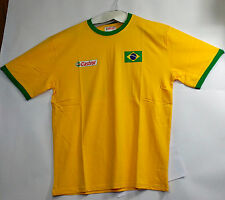 5-A-SIDE TEAM FOOTBALL SHIRT- NEW - SIZE LARGE - Brazil 70- 5 SHIRTS