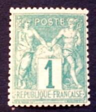 timbre france, n°61, 1c vert, BC,neuf ** TB et très frais côté 300€