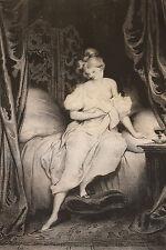 """Lithographie originale 1829 Achille Devéria """"Le lever"""" Romantisme"""