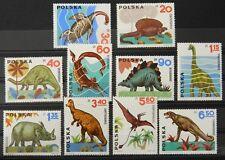 - Polen Poland 1965 Mi. Nr. 1570-1579 ** postfrisch MNH Dinosaurs