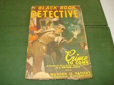 1947 BLACK BOOK DETECTIVE PULP V. 22 #1, FEBRUARY 1947
