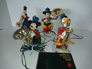 Mickeys Brass Band Walt Disney Mr Christmas Mickey, Minny, Daffy Duck WORKS