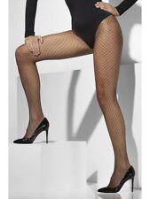Lattice Net Tights Ladies Black Fishnet Fancy Dress Tights One Size