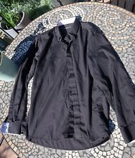 "M&S Mens Shirt Milan 16.5"" Black Marks And Spencers"