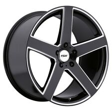18x8 TSW Rivage 5x120 +20 Black Rims Fits BMW 525 530 E34