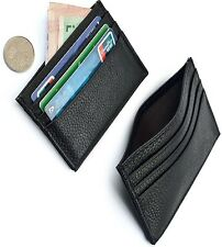 GIFTS FOR MEN Crocodile Leather Mens Money Debit Credit Card Wallet Holder Black