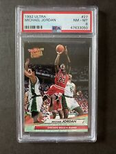 1992-93 Fleer Ultra #27 Michael Jordan Chicago Bulls HOF PSA 8 NM-MT🔥🔥🔥