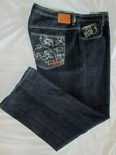 ~~>~>   ECKO UNLTD   ~  Mens  BAGGY FIT  Blue Jeans ~ Sz 42 x 34 ~ EXCELLENT