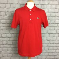 LACOSTE SPORT MENS UK M US M SIZE 4 RED ESSENTIAL POLO SHIRT SPORTSWEAR ACTIVE