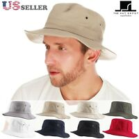 The Hat Depot 100% Cotton Canvas Packable Summer Boonie Travel Bucket Hat 1560