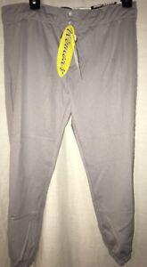 Easton Women's Softball Challenge Pants Grey Bio-Dri Skinz NWT Large