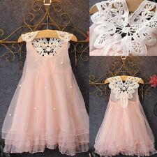 Flower Girl Dress Kid Princess Party Wedding Pageant Formal Tutu Dresses Clothes