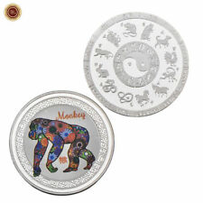 WR Chinese Lunar Year Of The Monkey 999 Silver Coin 12 Zodiac Animals Lucky Gift