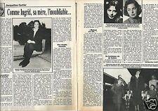 Coupure de presse Clipping 1988 Isabella Rossellini & Ingrid Bergman  (2 pages)