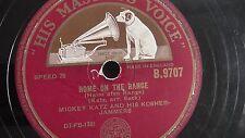 Jewish Yiddish 78rpm – Mickey Katz – His Masters Voice #B-9707 UK Pressing
