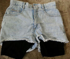 "SHORTS LACE BOTTOM NOT GUILTY WOMEN JUNIORS BLUEJEAN WAIST 27"" - SIZE 9 CUTE!"