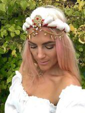 Red & Gold Charm Mermaid Sea Shell CORONA capelli Head Band Choochie Choo stile Boho Hippy