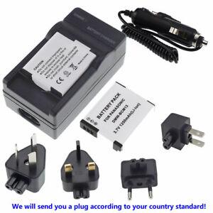 2X Battery + charger For Panasonic Lumix DMC-TZ55 DMC-TZ57 DMC-TZ60 DMC-TZ70 Cam