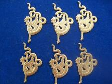 "Vtg * Dragon Chimera Mythological * Brass Findings Stampings 1.75"""
