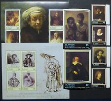ST. VINCENT 2006 Gemälde Rembrandt Paintings 6312-23 + Bl.667-668 ** MNH