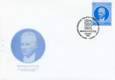 Estonia 2018 FDC Arnold Ruutel Heads of State 1v Set Cover Politicians Stamps