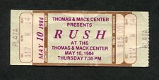 1984 Rush Gary Moore unused full concert ticket Las Vegas Grace Under Pressure