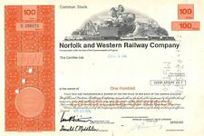 Norfolk and Western Railway Compagny Certificate 1976 (256073)