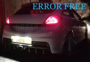 ASTRA H J CORSA C D VXR Xenon White LED Number Plate LIGHT Bulbs ERROR FREE