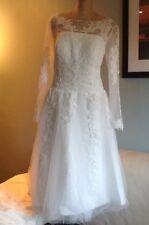 Size 14/16 Wedding Dress Tea length