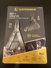 BRAND NEW Leather Man REV + & Style CS Bundle Combo Pack Multi Tool 14 Tools USA