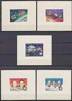 Obervolta Haute Volta 1975 ** Mi.581/85 de LUXE M/S Weltraum Space Apollo-Soyuz