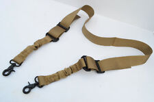 Nylon Bungee Two Point Tactical Rifle Gun Sling 2 Point - Dark Earth Tan
