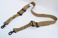 Nylon Bungee Two Point Tactical Rifle Gun Sling 2 Point - Dark Earth Tan