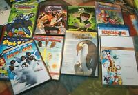 Lot of 10 Children's Kids DVDs Happy feet Racing Stripes Despicable Me
