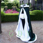 New Winter Long Faux Fur Trim Wedding Dresses Bridal Gown Cloaks Bridal PlusSize