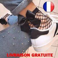 Chaussettes Femme Resille Cheville Noeuds Hauteur Dentelle Mode Vintage Qualité