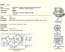 Une paire de MN1 / MP1 Transistors PNP GERMANIUM NEUF old stock équiv. AC128